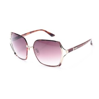 Missoni Women's Metallic Oversized Sunglasses Brown/Gold - Clear - Small