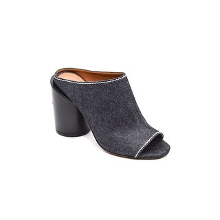 Givenchy Womens Blue Ramia Indigo Denim Star Mules Size 37 / 7