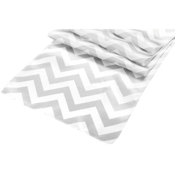 Chevron Satin Table Runner Material: 100% polyester - Gray