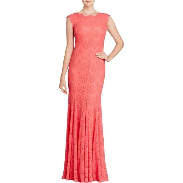 Aqua Womens Evening Dress Lace Sleeveless