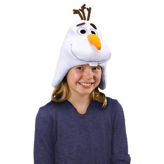 Frozen Disney Olaf Laplander Child Costume Knit Hat - White