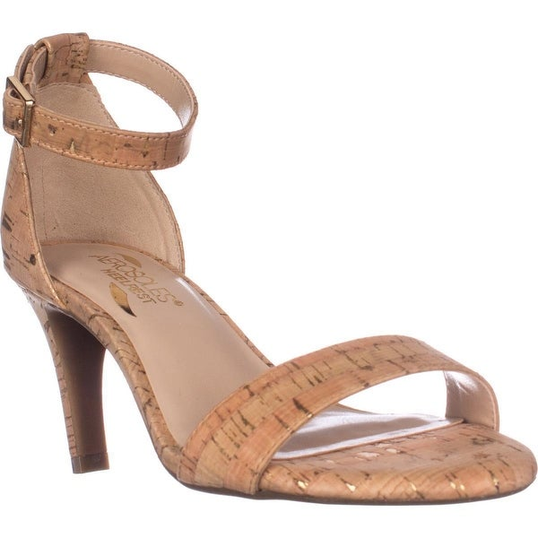 Aerosoles Laminate Ankle Strap Dress Sandals, Cork Combo