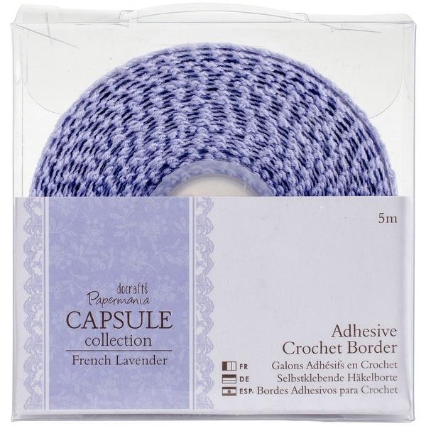 Papermania French Lavender Adhesive Crochet Border 5m-