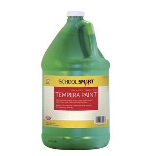School Smart Non-Toxic Multi-Purpose Liquid Tempera Paint, 1 gal Plastic Bottle, Green