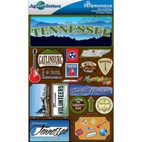 Jet Setters Dimensional Stickers-Tennessee