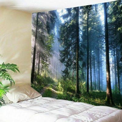 """Wall Tapestry Hanging Frondent Forest - 59"""" x 51"""""""