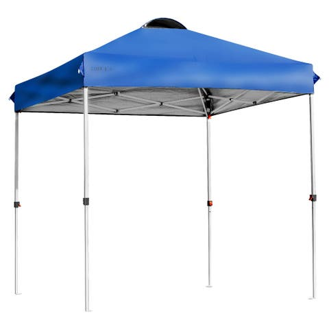 6x6 FT Pop Up Canopy Tent Camping Sun Shelter W/ Roller Bag