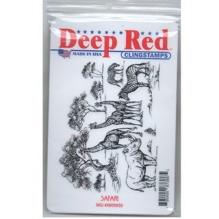 Deep Red Stamps Safari Rubber Cling Stamp - 4 x 3