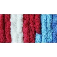 Red; White & Boom Variegated - Bernat Blanket Brights Big Ball Yarn