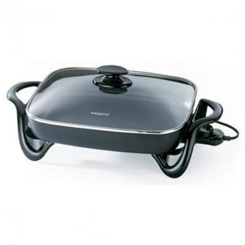 Presto 06852 Jumbo Size Electric Skillet with Glass Lid, 16""