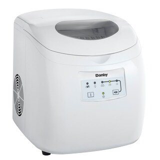 """Danby DIM2500 12"""" Wide 2 Pound Capacity Portable Ice Maker with 25 Lb. Daily Ice Production"""
