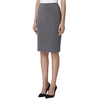 Link to Tahari Womens Double Slit Pencil Skirt, Grey, 10 Similar Items in Suits & Suit Separates