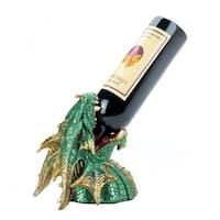 7.25 x 5.5 x 8 in. Dragon Drinking Wine Holder, Green