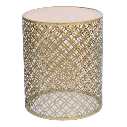 "Natalia 19"" Metal Geometric Outdoor Accent Table"