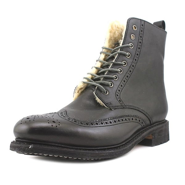 Blackstone EM38 Men Wingtip Toe Leather Black Boot