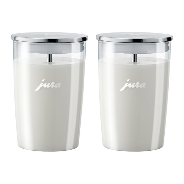 Jura Glass Milk Container (Pack of 2) - Clear
