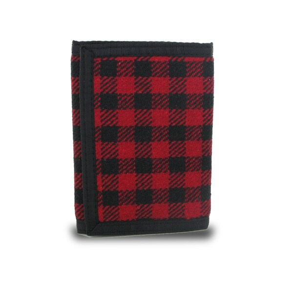Shop Plaid Fabric Trifold Wallet - Red Black - Free Shipping On Orders Over   45 - Overstock.com - 20707110 f396f3d65da2