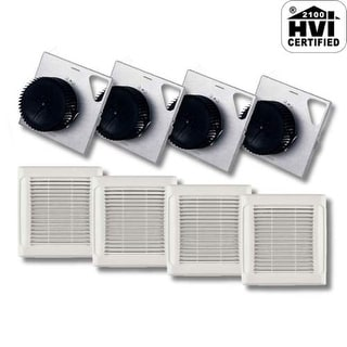 NuTone AEN80F InVent Series 80 CFM 0.8 Sones HVI Certified Finish Pack with Gril