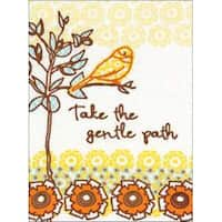 """5""""X7"""" Stitched In Thread - The Gentle Path Stamped Embroidery Kit"""