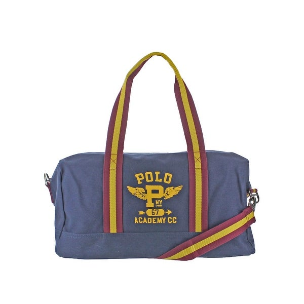5396165c99 Shop Polo Ralph Lauren Duffle Handbag Canvas Signature - Medium ...