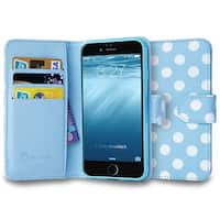 i-Blason Apple iPhone 6 / 6S Plus 5.5 Case - Leather Wallet - Dal Blue