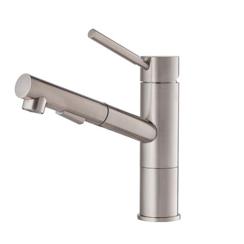 Kraus KPF-1750ST Geo Axis 2-Function 1-Handle Pull Out Kitchen Faucet