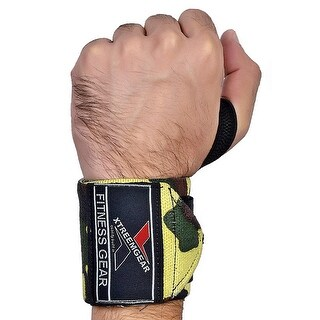 Weight Lifting Wrist Wraps Support Gym Training Bandage Straps Camo Green B-3G
