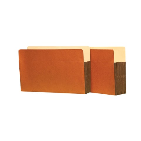 Star Products Heavy Duty Expanding File, Legal, 5-1/4 in Expansion, 5 Pockets, Redrope