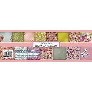 """Scrapberry's Birds Of Paradise Paper Pack 12""""X12"""" 9/Pkg-6 Double-Sided & 3 Single-Sided"""