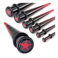 UV Acrylic Two Tone Star Inlayed Taper with Oring (Sold Individually)
