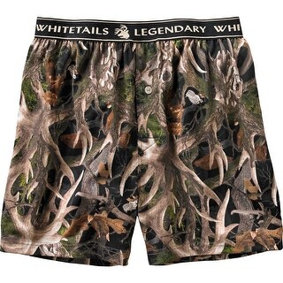Legendary Whitetails Men's Midnight Timber Knit Boxer Shorts