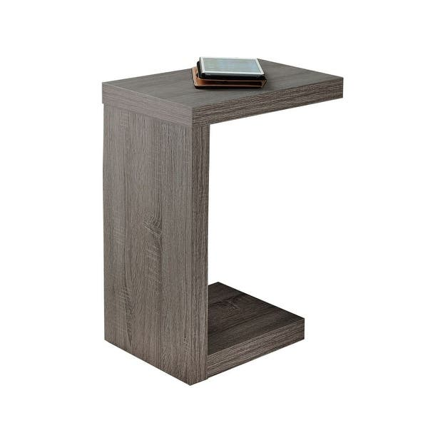 Enjoyable Monarch Specialties I 2488 18 Inch Wide Accent Table Dark Taupe Andrewgaddart Wooden Chair Designs For Living Room Andrewgaddartcom