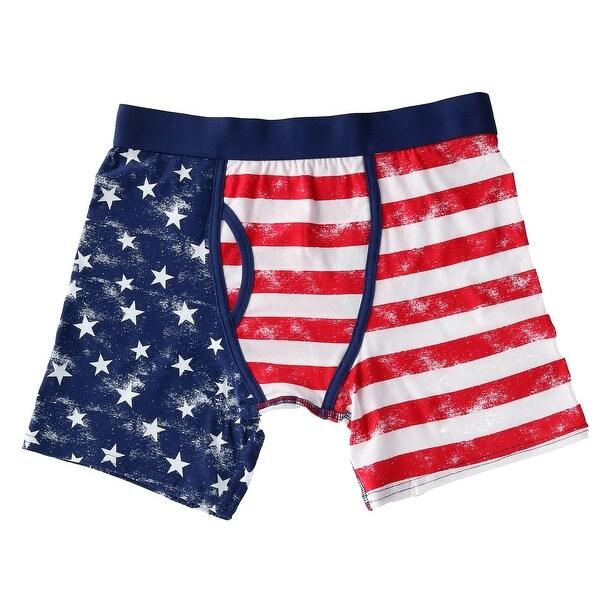 Shop Bioworld Men S Distressed American Flag Boxer Brief