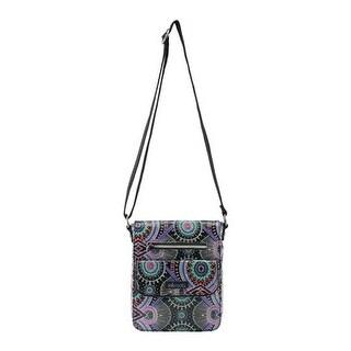 Sakroots Women's Artist Circle Small Flap Messenger Bag Onyx Wanderlust - US Women's One Size (Size None)
