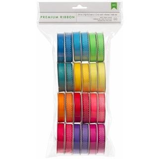 """Premium Ribbon Value Pack .375""""X4' 24/Spools-Neon"""