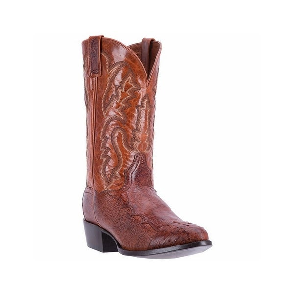 Dan Post Western Boots Mens Leather R Toe Cowboy 7 D Cognac DPP5210