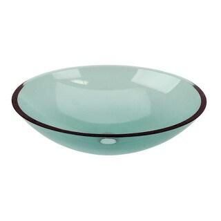 Green Glass Vessel Bathroom Oval Sink Pop-up In Renovator's Supply