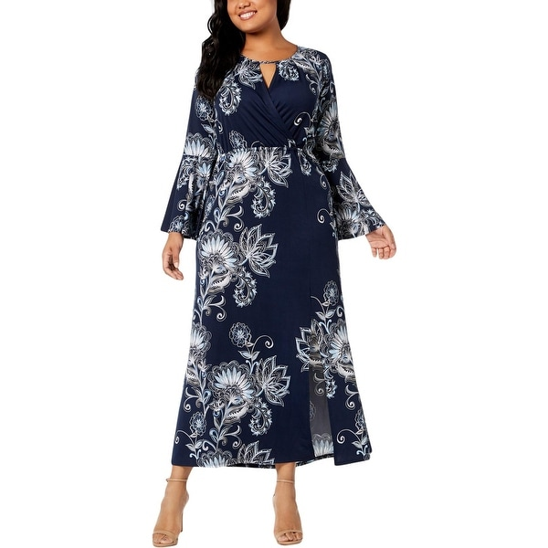 56612c0e91c Shop NY Collection Womens Plus Maxi Dress Floral Print Casual - Free ...