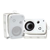 "PYLE PRO PDWR30W 3.5"" Indoor/Outdoor Waterproof Speakers (White)"