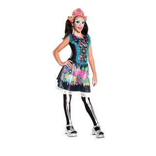 Girls Skelita Calaveras Monster High Costume