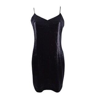 Vince Camuto Women's Sequined Slip Dress - rich black