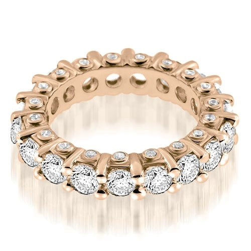 3.23 cttw. 14K Rose Gold Stylish Round Cut Diamond Eternity Band Ring