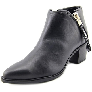 Steven Steve Madden Doris Men  Pointed Toe Leather Black Bootie