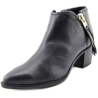 Steven Steve Madden Doris Men Pointed Toe Leather Black Bootie