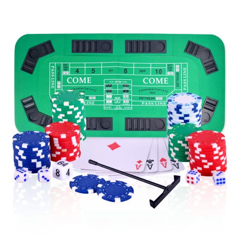 No Limit 3-in-1 Portable Casino Tabletop - Green Felt