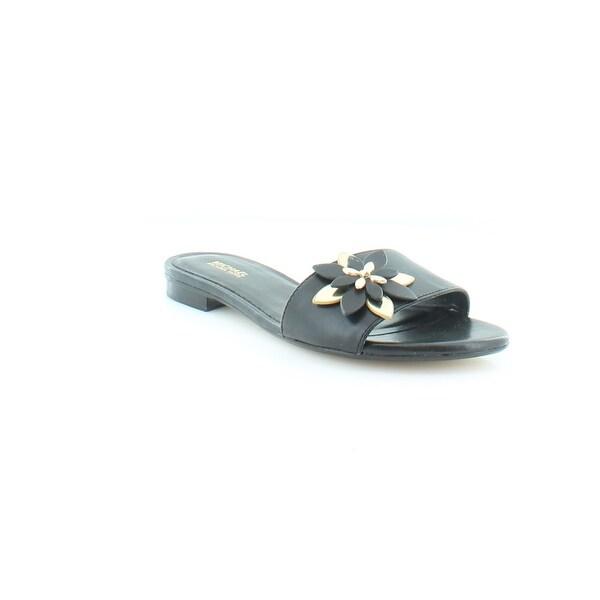 Michael Kors Heidi Flat Sandal Women's Sandals & Flip Flops Black - 6.5