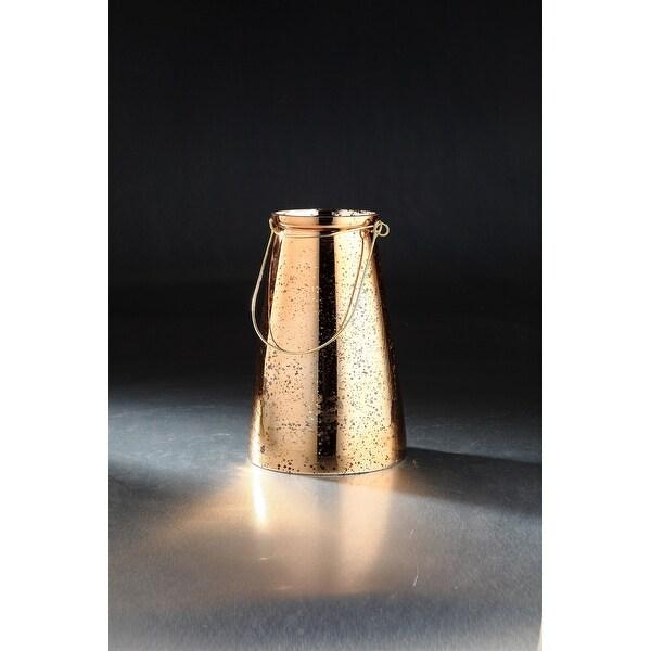 "10"" Bronze Hand Blown Glass Jar Tabletop Decor - N/A"