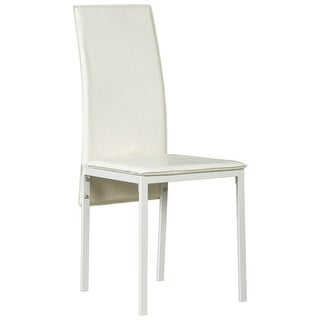 Ashley Furniture Faux Leather Upholstery Dining Room Side Chair White (4 Pack)