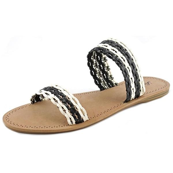 Lucky Brand Alddon Women Open Toe Synthetic Black Slides Sandal