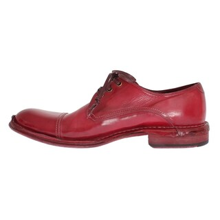 Dolce & Gabbana Red Leather Dress Formal Shoes - eu44-us11